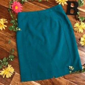 The Limited Skirt 10 Green Teal Straight Pencil